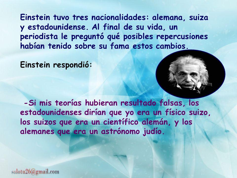 En una conferencia que Einstein dió en un Colegio de Francia, el escritor Paul Valery le preguntó: -Profesor Einstein, cuando tiene una idea original,