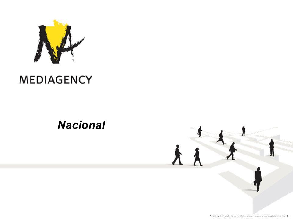 Presentación confidencial prohibido su uso sin autorización de Mediagency® Nacional