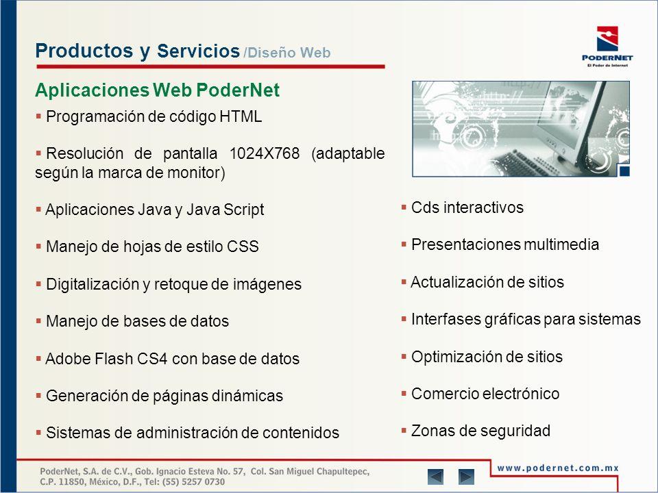 Productos y Servicios Diseño Web En PoderNet consideramos a cada proyecto con personalidad propia, para lo cual aplicamos diseño y creatividad con tecnología y enfoque humano.