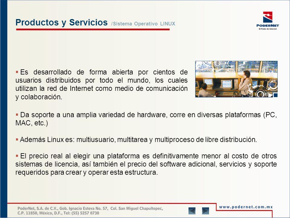 Productos y Servicios Sistema Operativo LINUX PoderNet apoyándose en un equipo humano formado por experimentados profesionales de las tecnologías de la información en general, y de GNU/Linux en particular, le suministra estudios exhaustivos de sus necesidades y sus posibles soluciones, para así ofrecer un servicio profesional de consultoría.