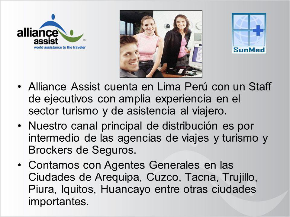 Alliance Assist cuenta en Lima Perú con un Staff de ejecutivos con amplia experiencia en el sector turismo y de asistencia al viajero. Nuestro canal p