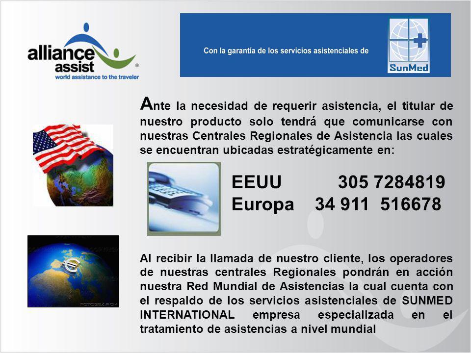 A nte la necesidad de requerir asistencia, el titular de nuestro producto solo tendrá que comunicarse con nuestras Centrales Regionales de Asistencia