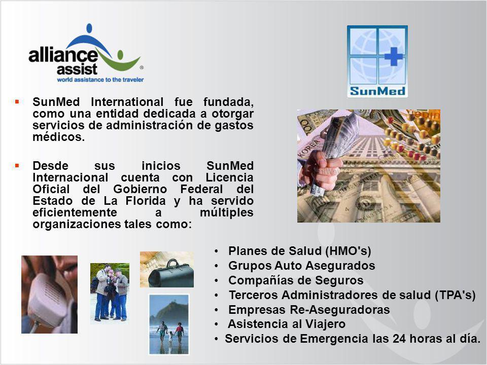 SunMed International fue fundada, como una entidad dedicada a otorgar servicios de administración de gastos médicos. Desde sus inicios SunMed Internac