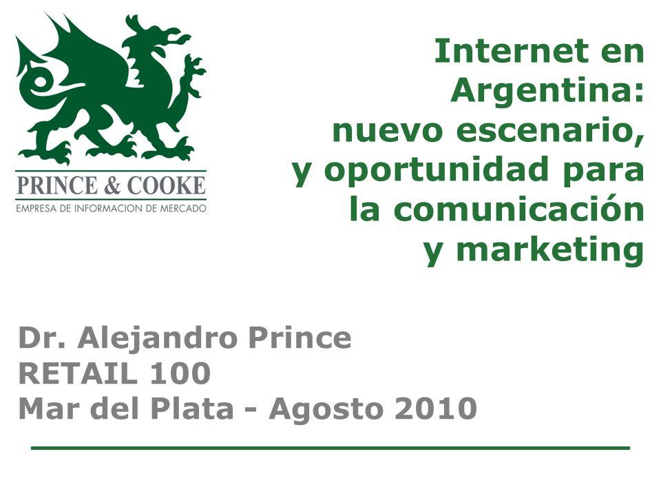 Internet en Argentina: nuevo escenario, y oportunidad para la comunicación y marketing Dr.