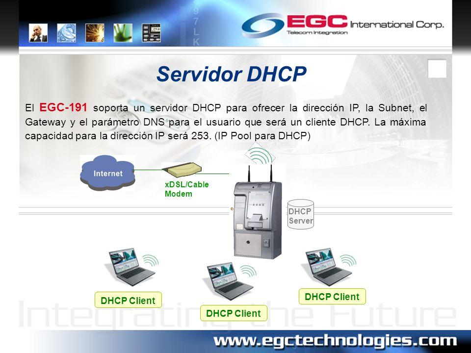 Lista de sesiones en tiempo real Administrador Global IP 210.66.37.22 Network Management PC Esta función permite el monitoreo de la Unidad en tiempo real para supervisar remotamente la operación y el estado del EGC-191.