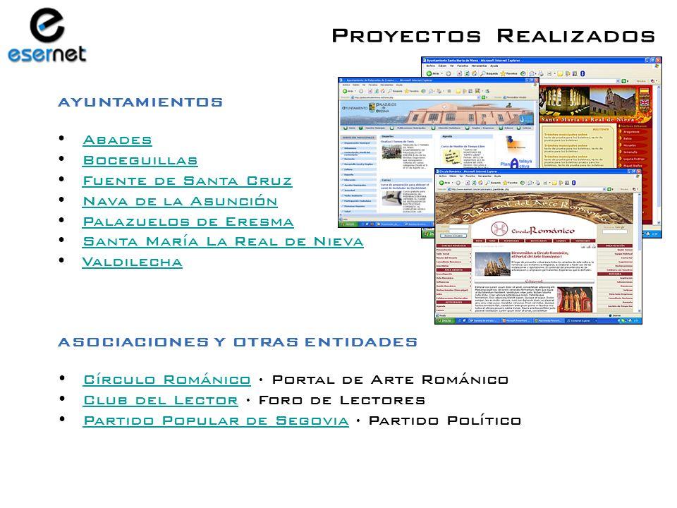 Proyectos Realizados MÁS DE 180 SITIOS WEB PUBLICADOS