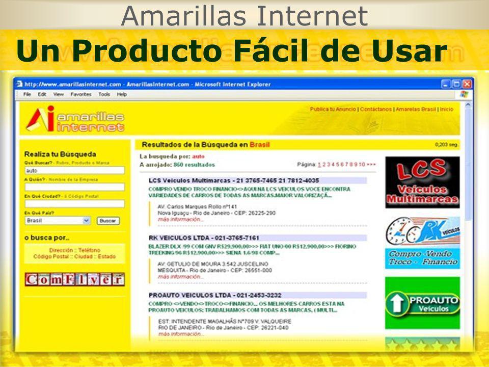Amarillas Internet Un Producto Fácil de Usar