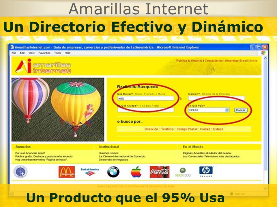 Amarillas Internet Un Producto que el 95% Usa Un Directorio Efectivo y Dinámico