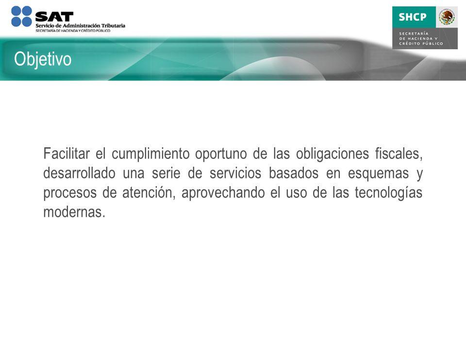 Ser una institución eficiente, eficaz y orientada al contribuyente, formada por un equipo honesto, capaz y comprometido, que contribuya a la mejora en el bienestar de los mexicanos.