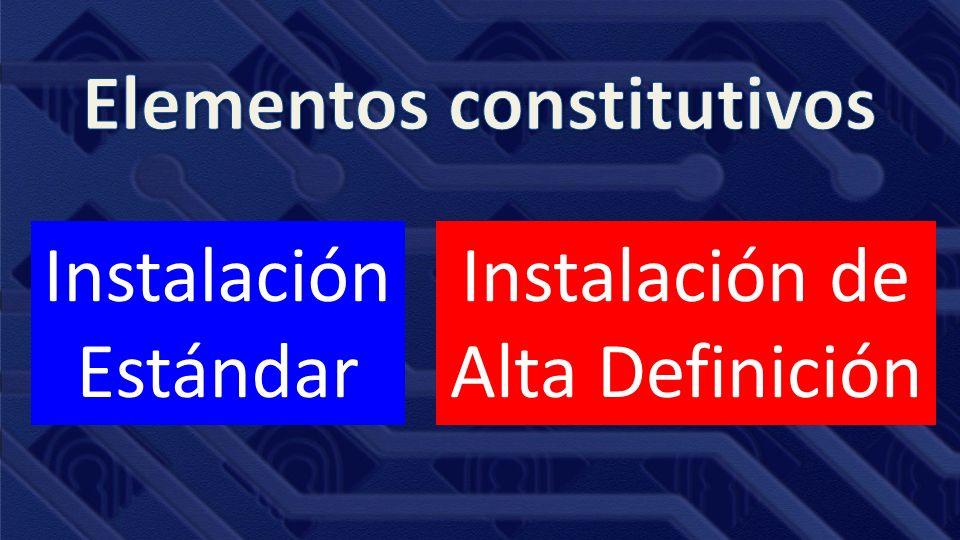 Instalación Estándar Instalación de Alta Definición