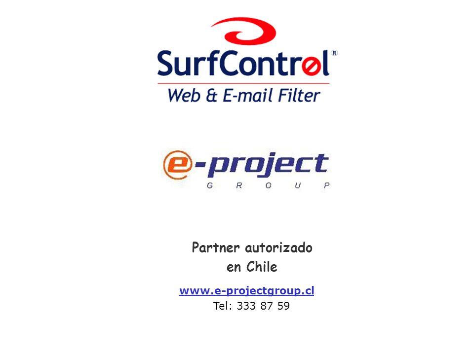 Partner autorizado en Chile www.e-projectgroup.cl Tel: 333 87 59