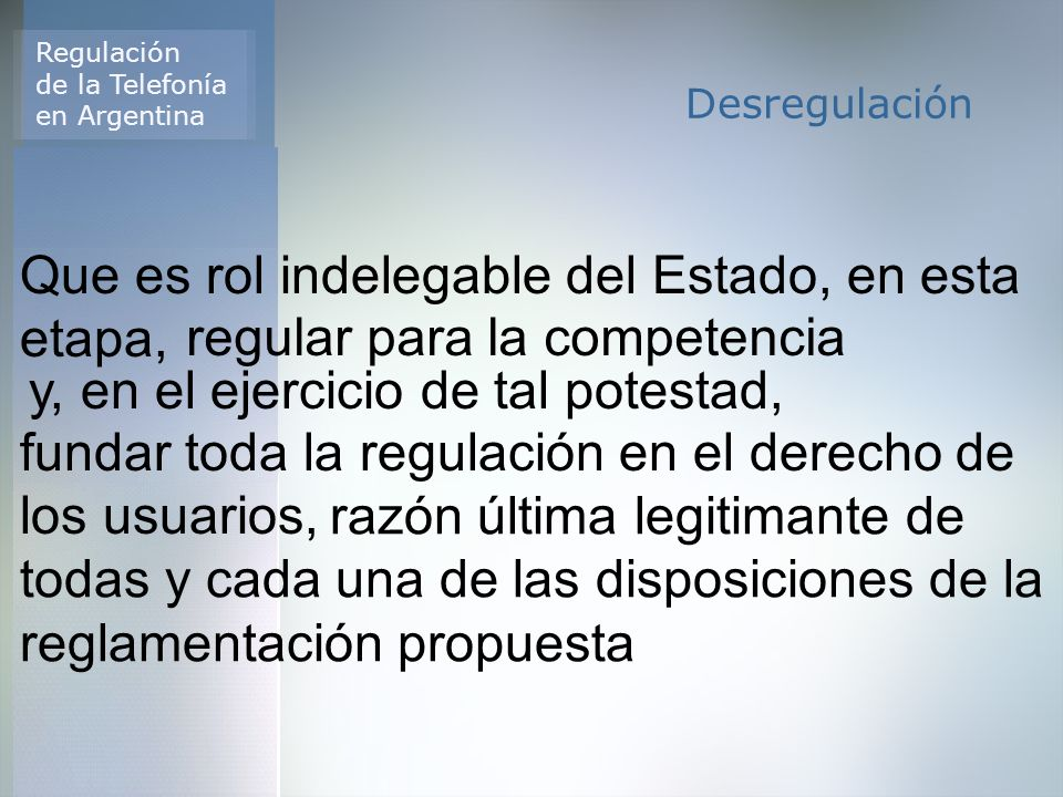 Regulación de la Telefonía en Argentina Características Técnicas de la VoIP Ejemplos de Regulación VoIP en LATAM Aspectos de la regulación VoIP en Argentina Regulación de Internet en Argentina Status actual de VoIP en Argentina Soft Phone Internet RTPC