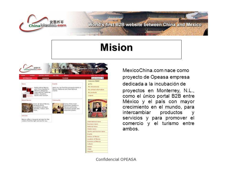 Confidencial OPEASA Tarifas Peso máximo 3 K Sin animación Comercialización en base a patrocinio.