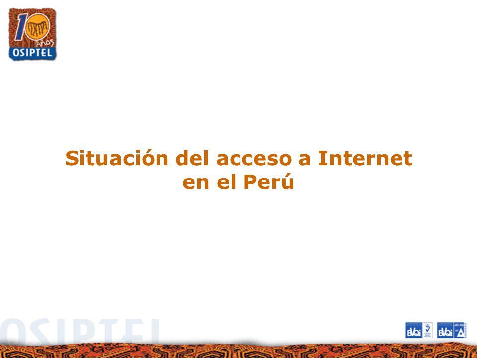 Situación del acceso a Internet en el Perú