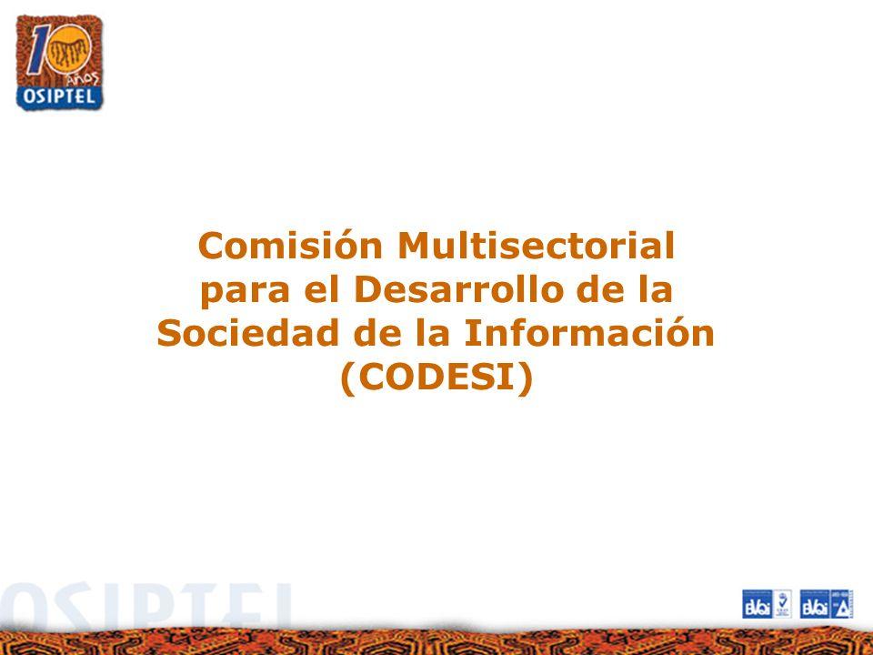 Comisión Multisectorial para el Desarrollo de la Sociedad de la Información (CODESI)