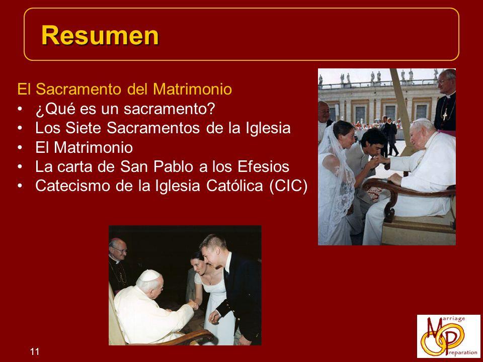 11 El Sacramento del Matrimonio ¿Qué es un sacramento.