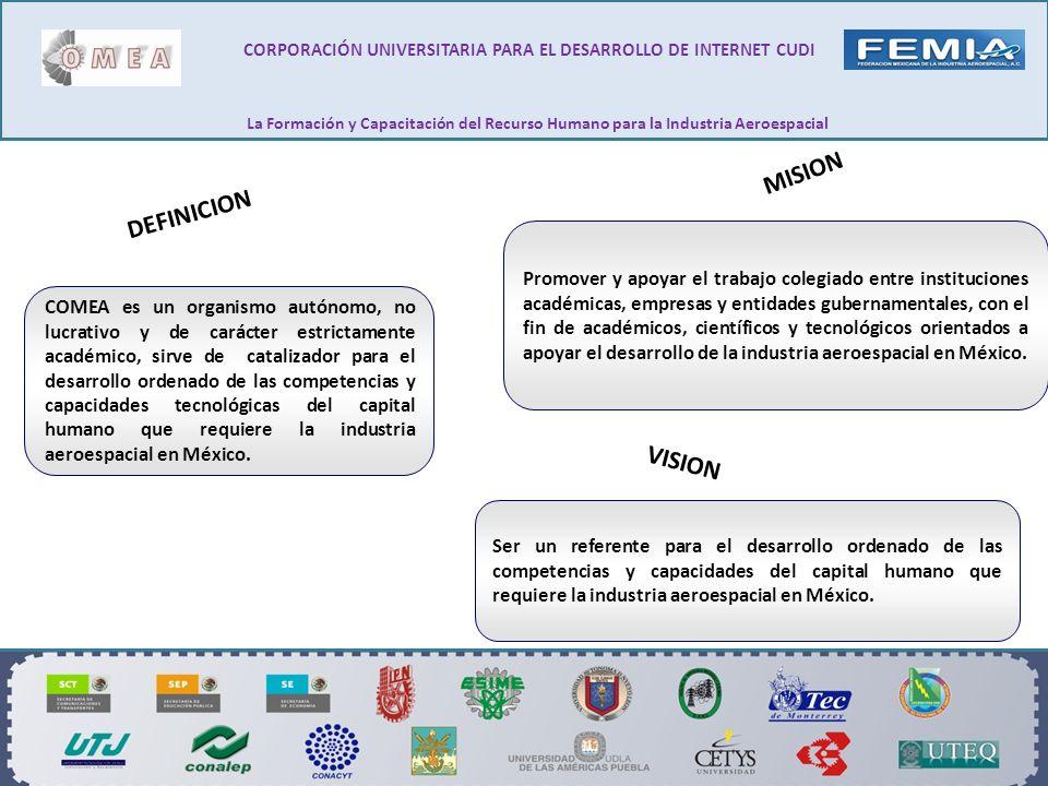 MISION Promover y apoyar el trabajo colegiado entre instituciones académicas, empresas y entidades gubernamentales, con el fin de académicos, científi