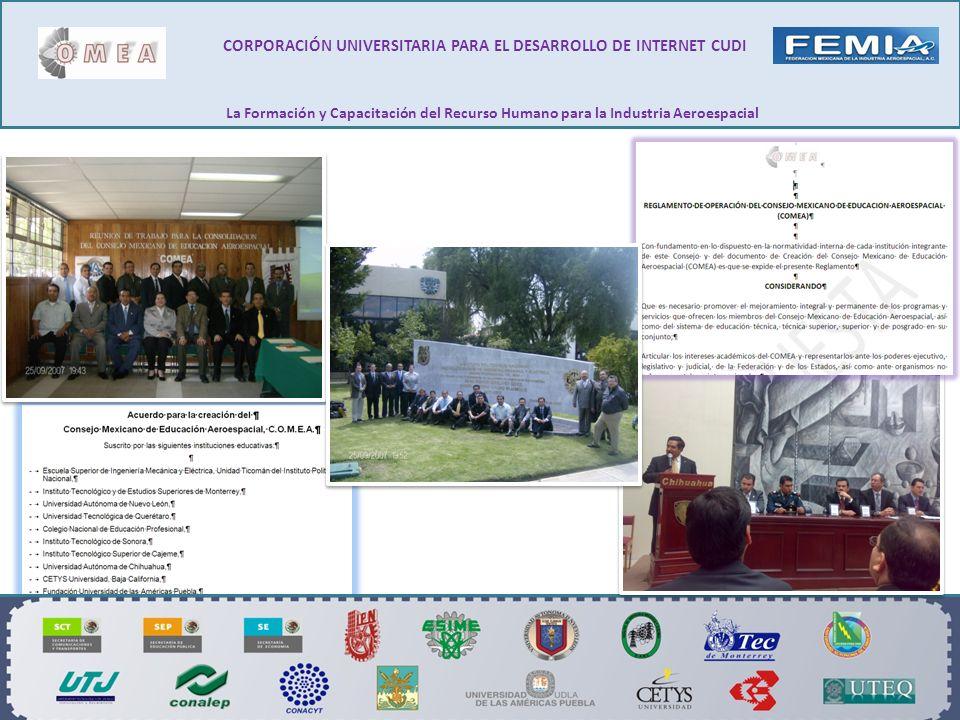 CORPORACIÓN UNIVERSITARIA PARA EL DESARROLLO DE INTERNET CUDI La Formación y Capacitación del Recurso Humano para la Industria Aeroespacial