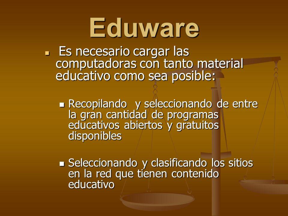 Eduware Es necesario cargar las computadoras con tanto material educativo como sea posible: Es necesario cargar las computadoras con tanto material ed