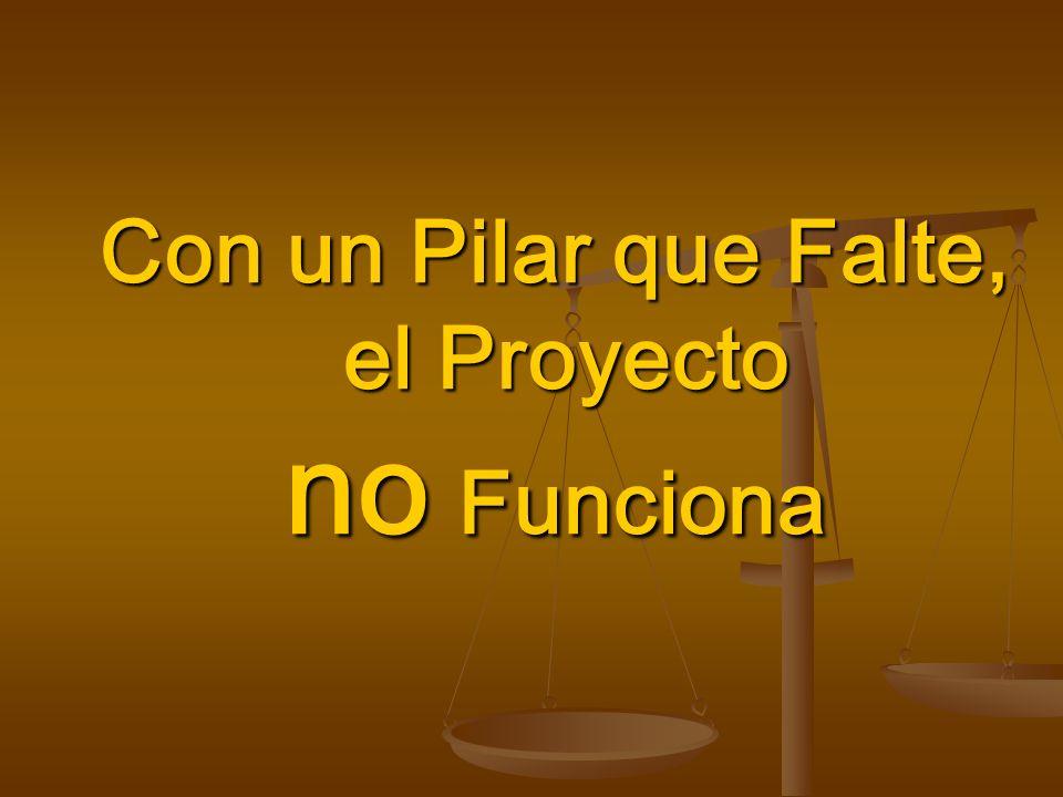 Con un Pilar que Falte, el Proyecto no Funciona