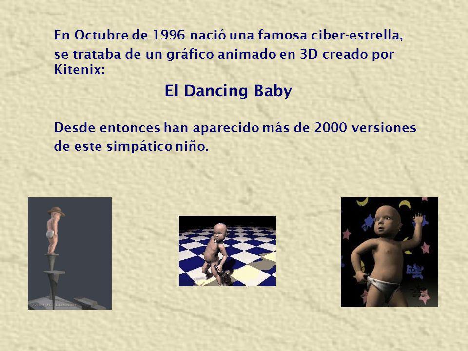En Octubre de 1996 nació una famosa ciber-estrella, se trataba de un gráfico animado en 3D creado por Kitenix: El Dancing Baby Desde entonces han apar