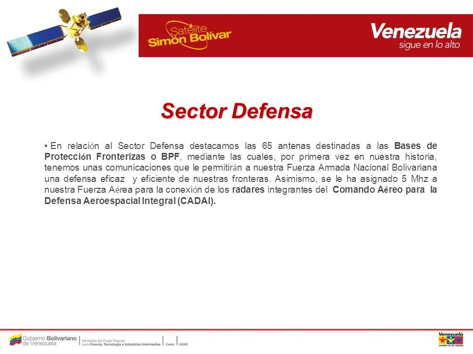 Medios de comunicaci ó n del Estado Por su parte, las televisoras estatales (VTV, TVes, Telesur, ANTV, RedTv) cuentan con un ancho de banda disponible de 36 Mhz en la Banda C, donde el SSB les permite hacer cobertura de las zonas m á s remotas de la geograf í a venezolana.
