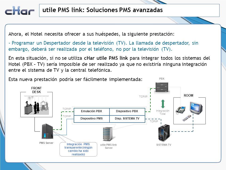 utile PMS link: Soluciones PMS avanzadas Ahora, el Hotel necesita ofrecer a sus huéspedes, la siguiente prestación: - Programar un Despertador desde l