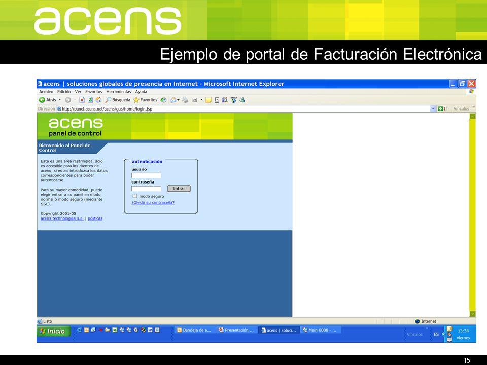 15 Ejemplo de portal de Facturación Electrónica
