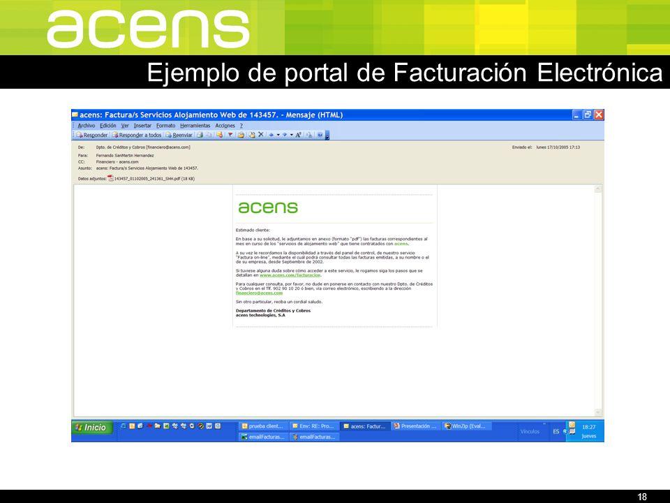 18 Ejemplo de portal de Facturación Electrónica