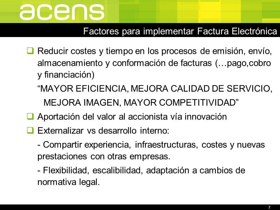 8 Contenido Quiénes somos Factores para implementar Factura Electrónica Fases en la facturación de acens Autorización expresa ¿Cómo conseguirla.
