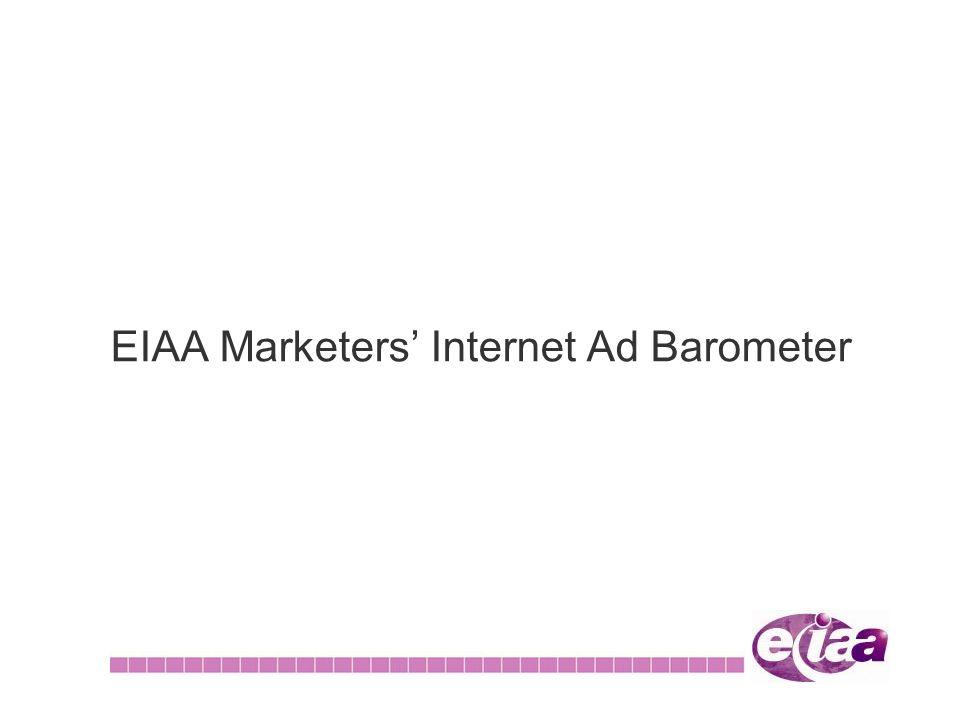 EIAA Marketers Internet Ad Barometer