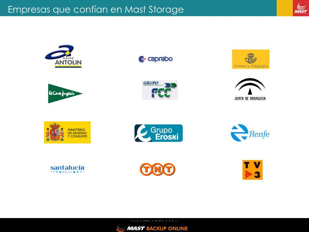 NOVEDADES 2006 Empresas que confían en Mast Storage MAST STORAGE