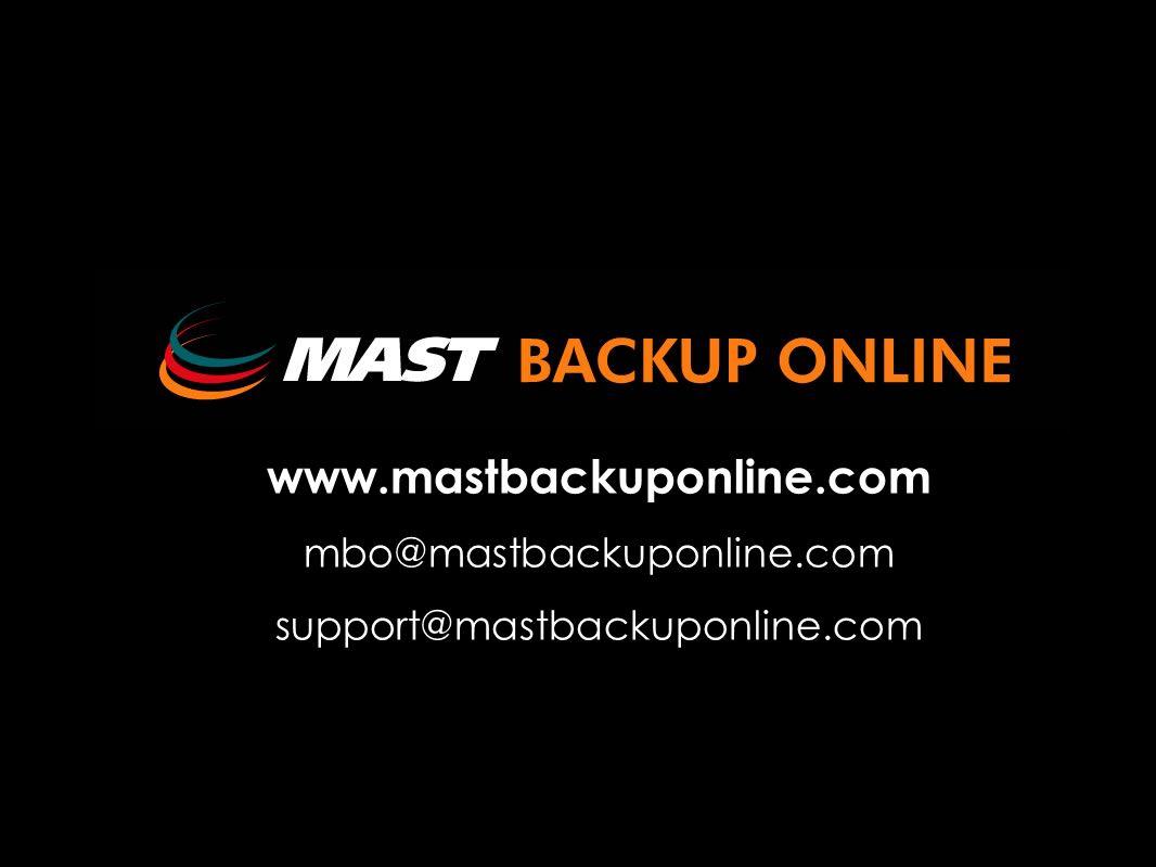 NOVEDADES 2006 www.mastbackuponline.com mbo@mastbackuponline.com support@mastbackuponline.com