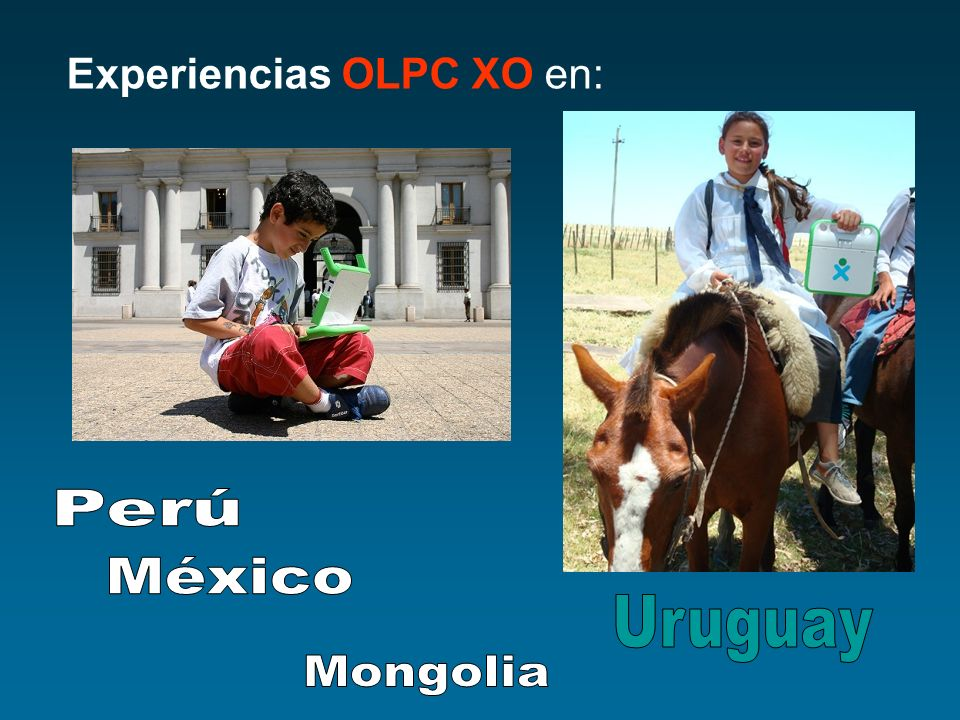Experiencias OLPC XO en: