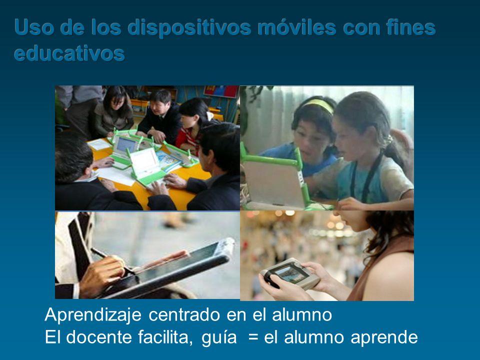 Aprendizaje centrado en el alumno El docente facilita, guía = el alumno aprende