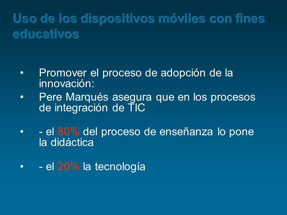 Promover el proceso de adopción de la innovación: Pere Marqués asegura que en los procesos de integración de TIC - el 80% del proceso de enseñanza lo