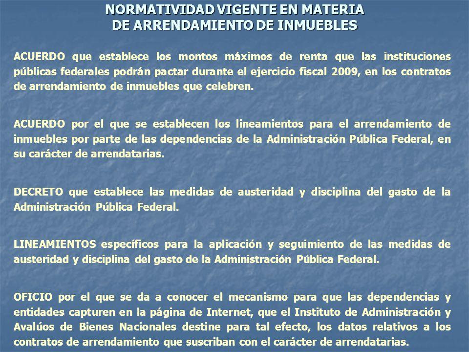 CAPTURA DE DATOS DE LOS CONTRATOS DE ARRENDAMIENTO Dirección electrónica: http://www..indaabin.gob.mx/contratos/ http://www..indaabin.gob.mx/contratos/ http://www..indaabin.gob.mx/contratos/ INSTITUTO DE ADMINISTRACIÓN Y AVALÚOS DE BIENES NACIONALES DIRECCIÓN GENERAL DE AVALÚOS DIRECCIÓN DE SEGUIMIENTO Y PROMOCIÓN SUBDIRECCIÓN DE RENTAS NOVIEMBRE / 2009 YST