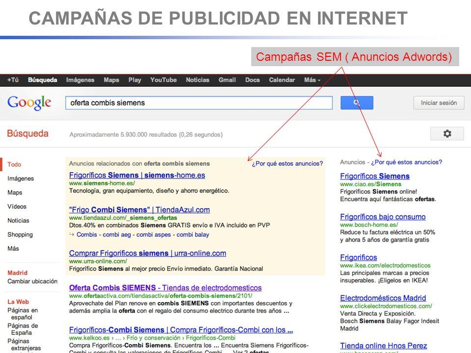 CAMPAÑAS DE PUBLICIDAD EN GOOGLE ¿Qué INCLUYE una campaña en Google .