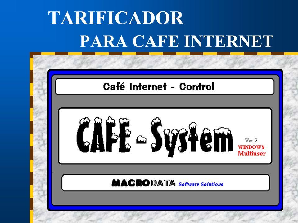 TARIFICADOR PARA CAFE INTERNET