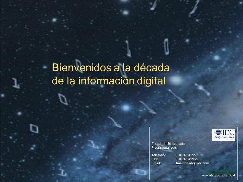 ©2010 IDC | 29 Fernando Maldonado Program manager Teléfono:+34917872150 Fax: +34917872165 Email:fmaldonado@idc.com www.idc.com/spain www.idc.com/portugal Bienvenidos a la década de la información digital