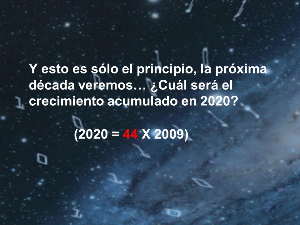 ©2010 IDC | 3 (2020 = 44 X 2009) Y esto es sólo el principio, la próxima década veremos… ¿Cuál será el crecimiento acumulado en 2020?