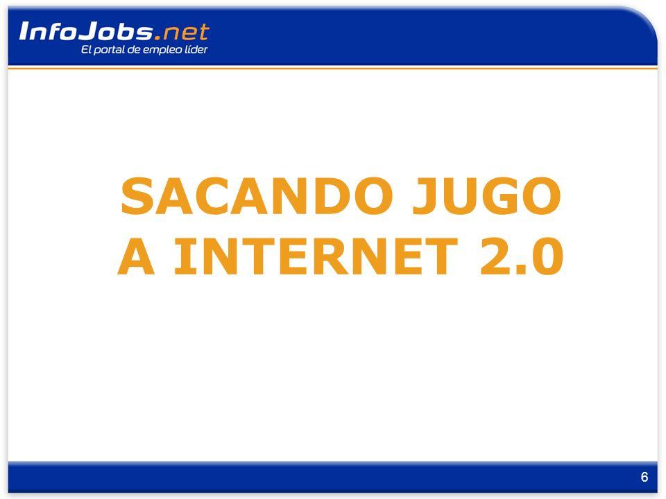 7 Lanzamiento: marzo 08 2 Dimensiones - 71 imágenes Externa: Candidatos & Empresa Interna: Infojobbers SACANDO JUGO A INTERNET 2.0 - Flickr VER