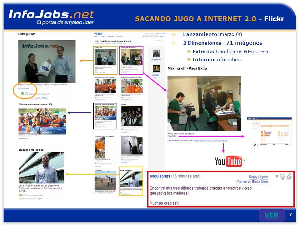 8 SACANDO JUGO A INTERNET 2.0 - Youtube Septiembre 2007 105 suscriptores + 39.000 vistas 15 videos Contacto con Control y revisión continua de los comentarios y aportaciones de los candidatos