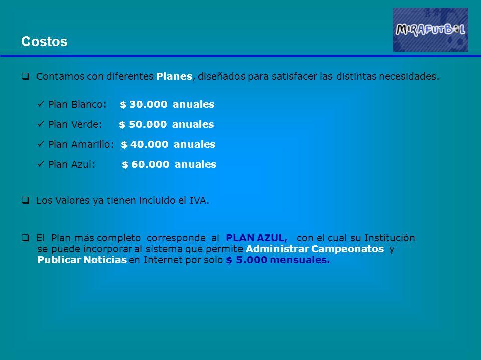 Administración de Campeonatos El forma automática es posible conocer la Tabla de Posiciones de cada competencia.