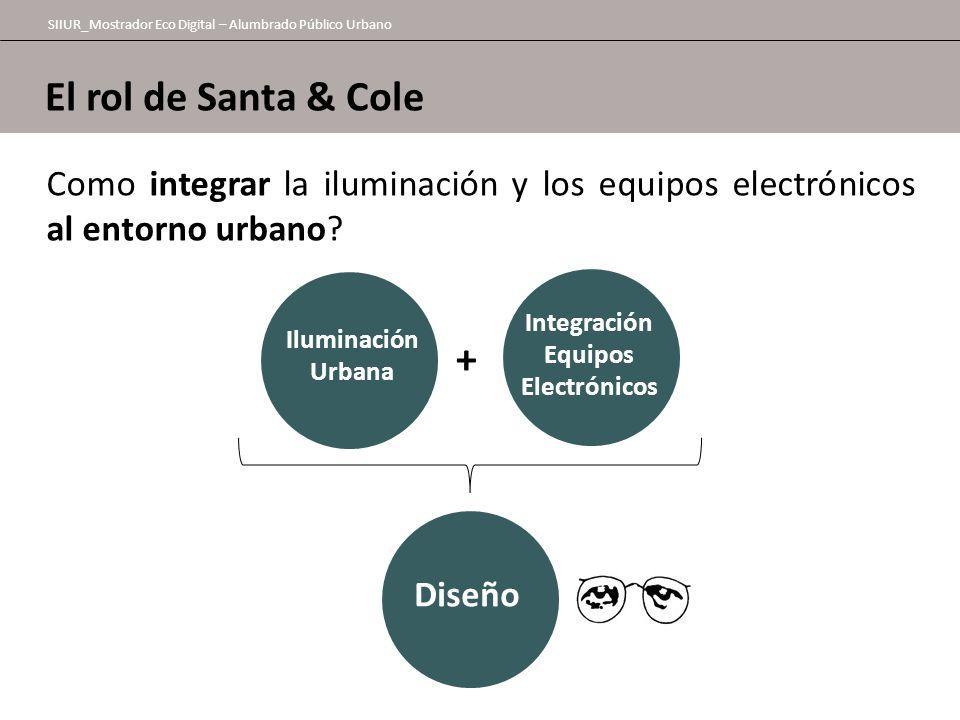 El rol de Santa & Cole SIIUR_Mostrador Eco Digital – Alumbrado Público Urbano Como integrar la iluminación y los equipos electrónicos al entorno urban