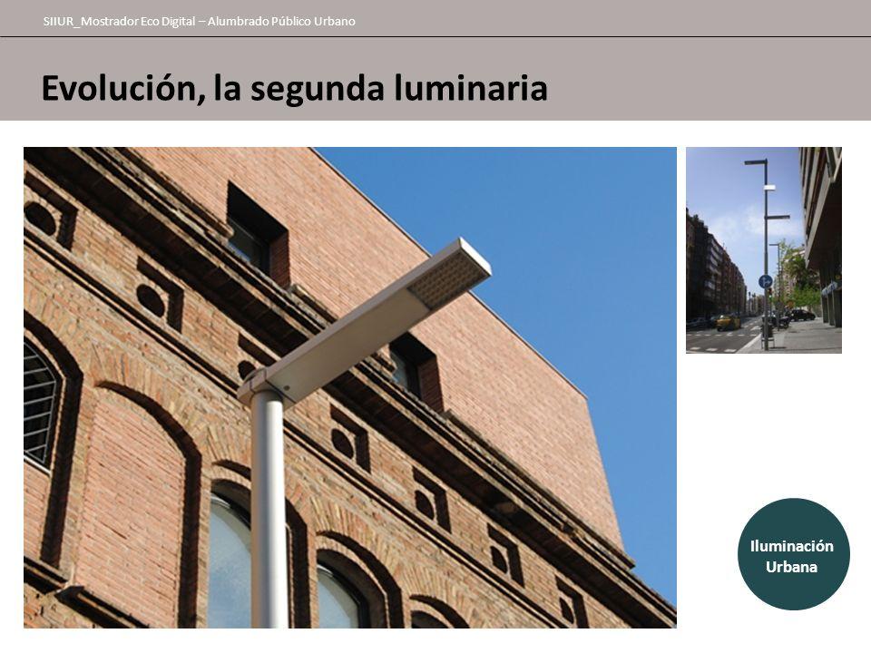 Evolución, la segunda luminaria SIIUR_Mostrador Eco Digital – Alumbrado Público Urbano Urban lighting Iluminación Urbana