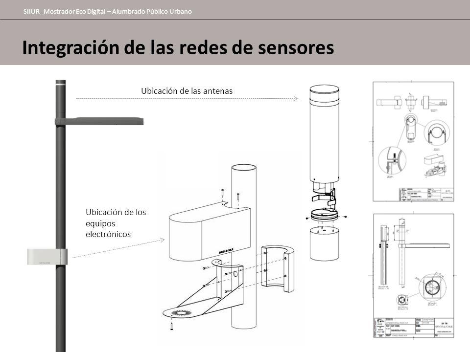 SIIUR_Mostrador Eco Digital – Alumbrado Público Urbano Integración de las redes de sensores Ubicación de las antenas Ubicación de los equipos electrón