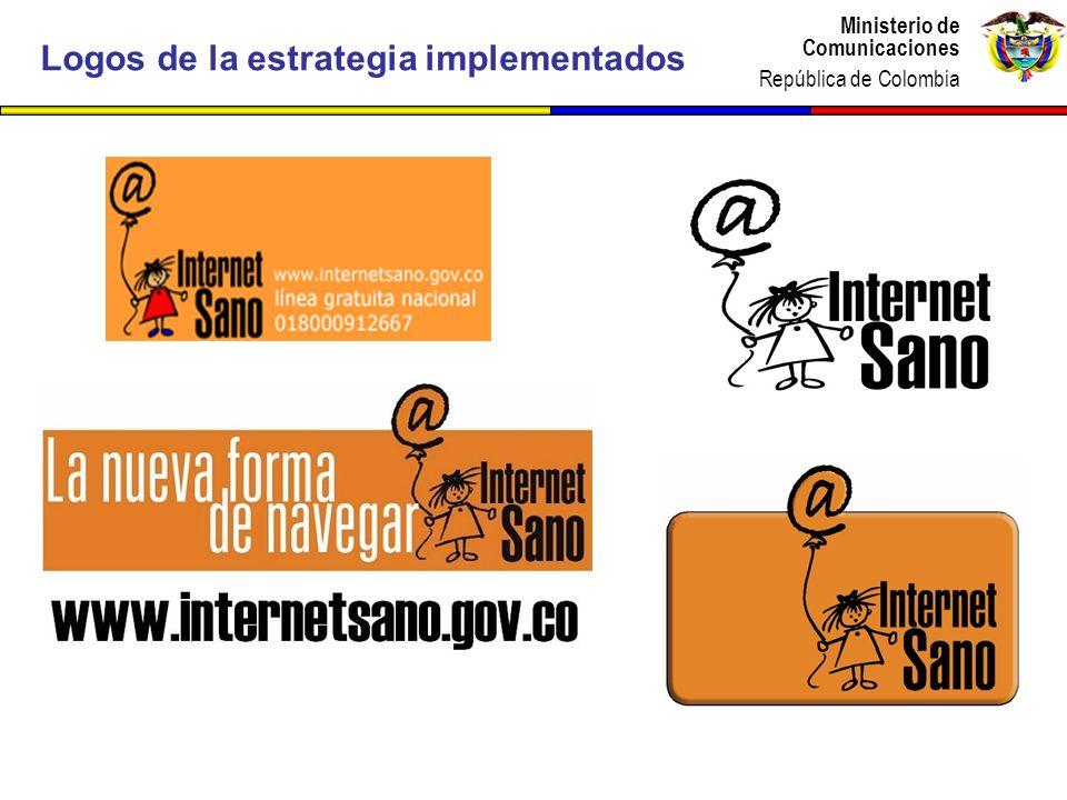 Ministerio de Comunicaciones República de Colombia Ministerio de Comunicaciones República de Colombia Logos de la estrategia implementados