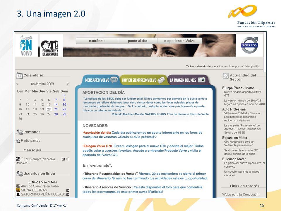 Company Confidential © 17-Apr-14 15 3. Una imagen 2.0