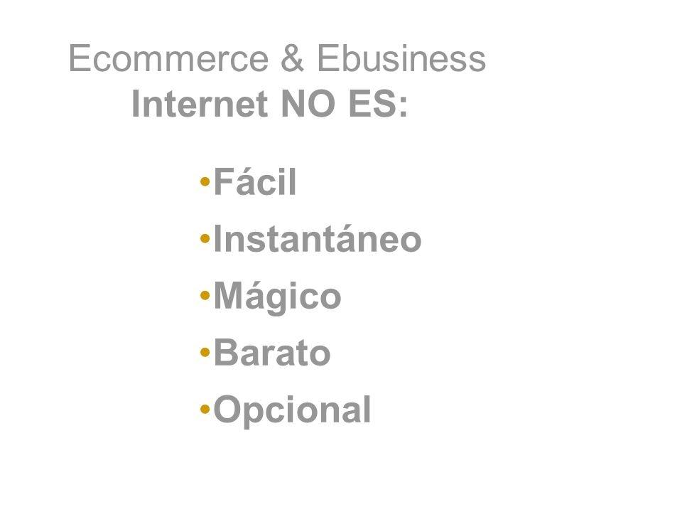 Ecommerce & Ebusiness Internet NO ES: Fácil Instantáneo Mágico Barato Opcional